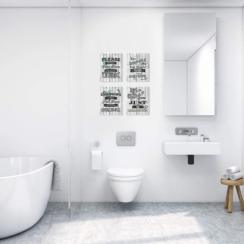 Business Basics Bathroom Quotes 8x10 UnframedBathroom DécorU.S.A