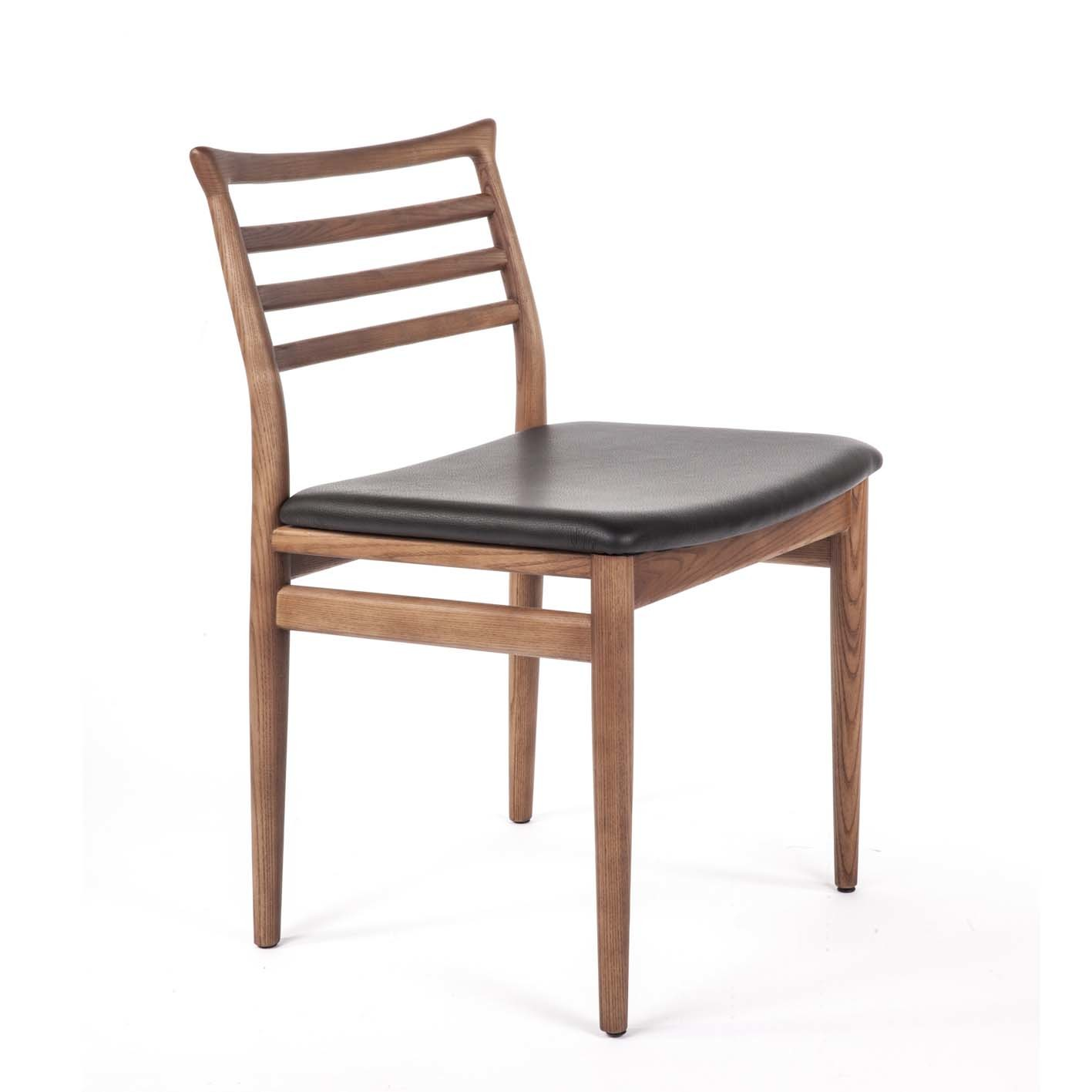 Midcentury Style Ladder Back Wooden Dining Chair EBay