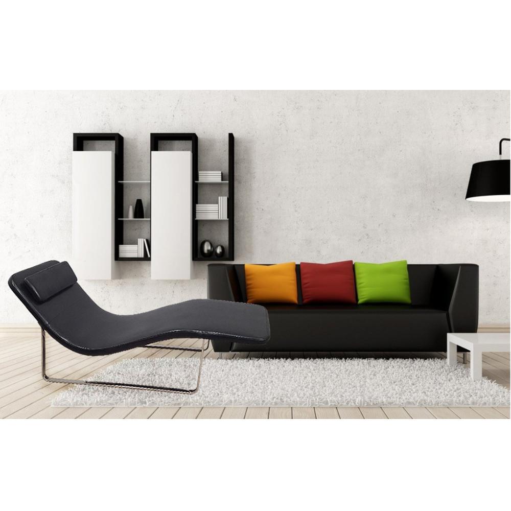 longa modern chaise lounge chair black  ebay - longamodernchaiseloungechairblack
