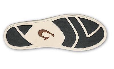 Olukai 10331 40KH Manoa Black Mustard Men/'s Slip On Shoes