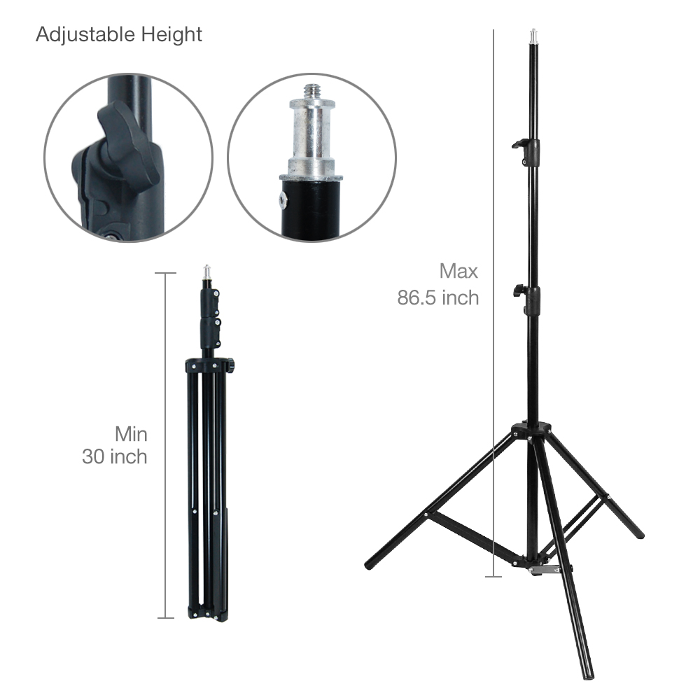 3 Softbox Light Stand Photo Studio Photography Continuous Lighting Kit