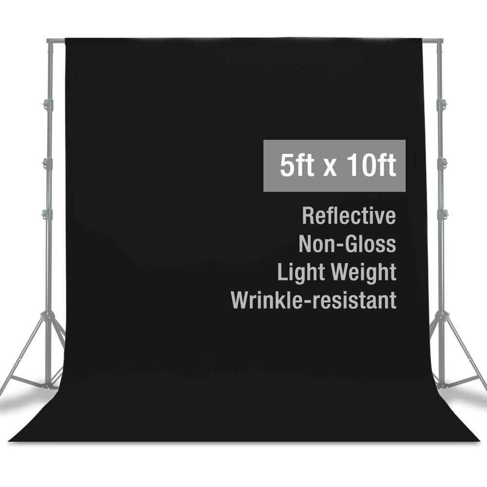 "86"" Background Photography Stand Photo Studio Black White Backdrop Muslin Kit"