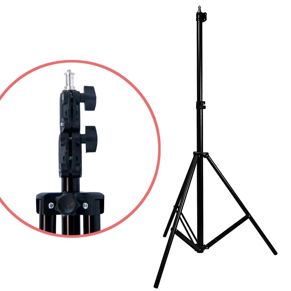 Photo Lighting Photography Umbrella Studio Light Bulb Muslin Backdrop Stand Kit
