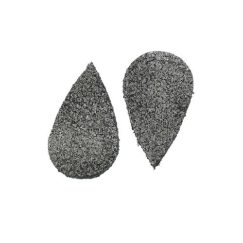 """Assorted Sizes Leather Die Cut /""""Rock N Roll/"""" DIY Earrings 12pk"""