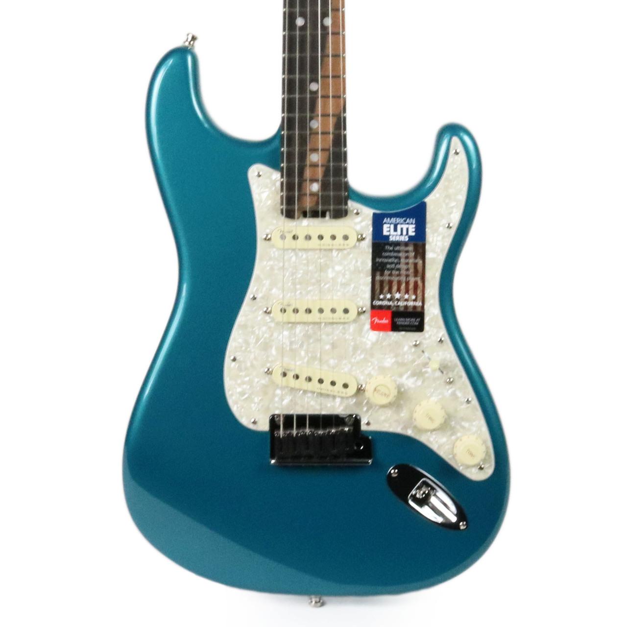 Brand New Fender American Elite Stratocaster Ebony - Ocean Turquoise ...