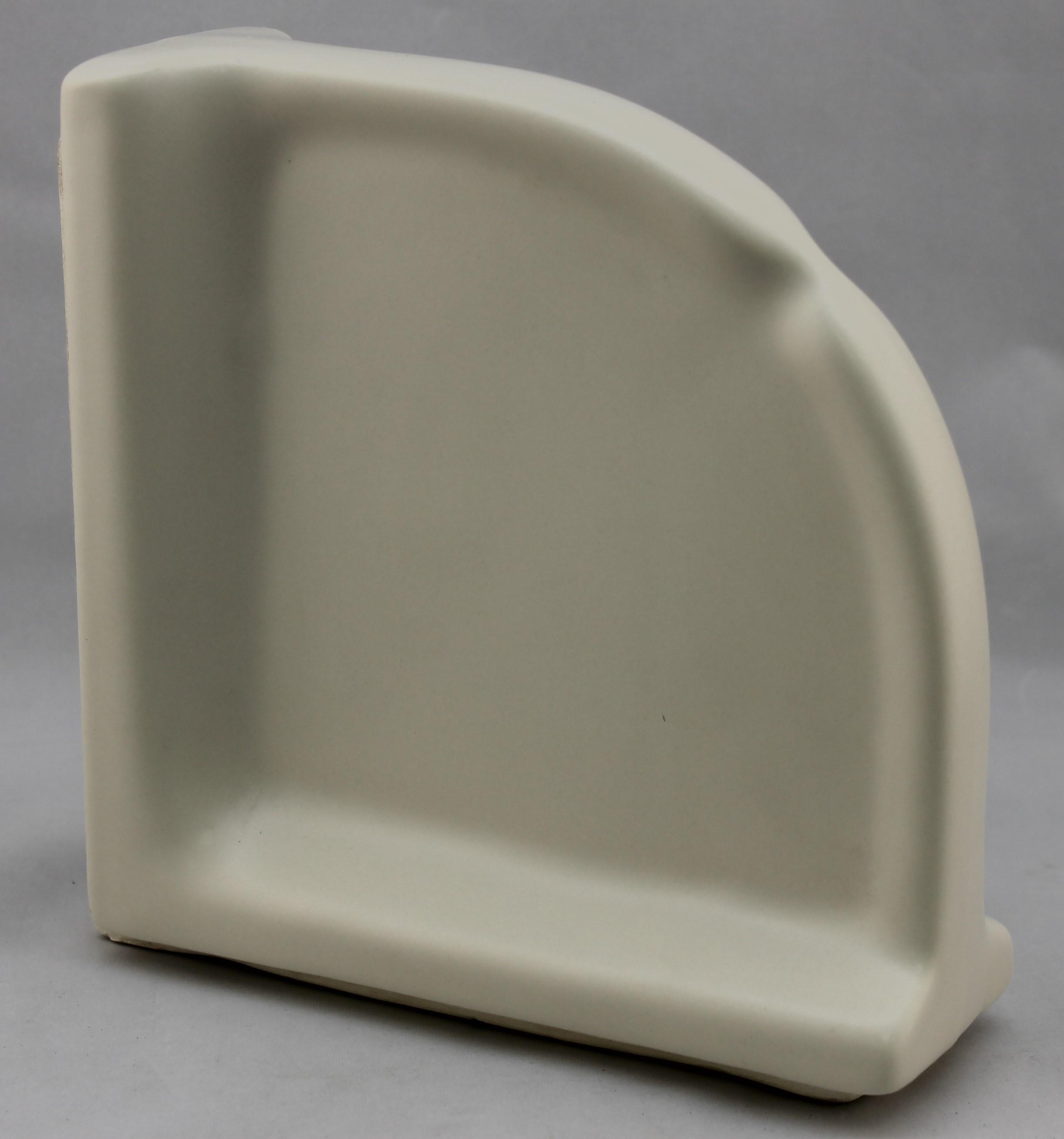 Ceramic Large Corner Soap Dish Reversible Style /& Multiple Colors