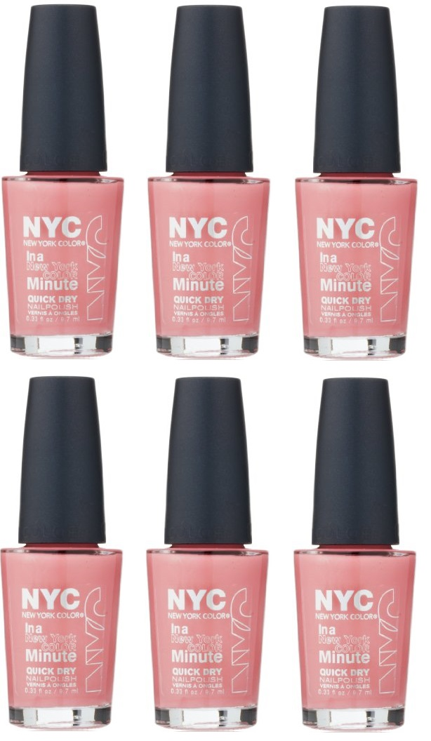 NYC New York Color Quick Dry Nail Polish,258 Prospect Park Pink ...