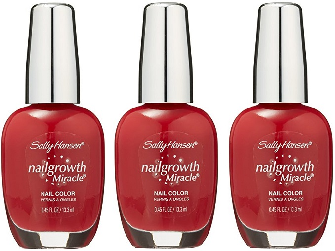 Sally Hansen Nail Growth Miracle Polish, 330 Stunning Scarlet CHOOSE ...