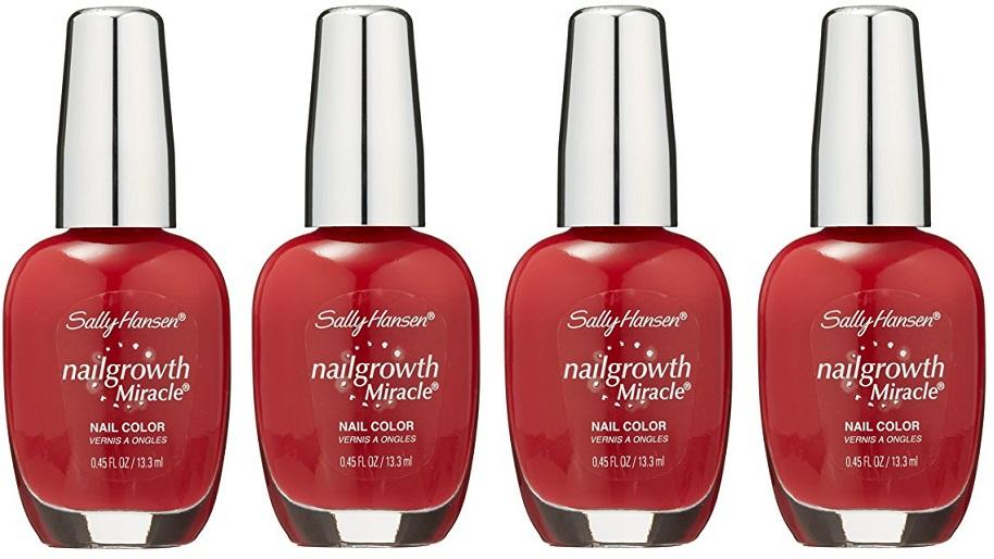 Sally Hansen Nail Growth Miracle Polish, 330 Stunning Scarlet CHOOSE ...