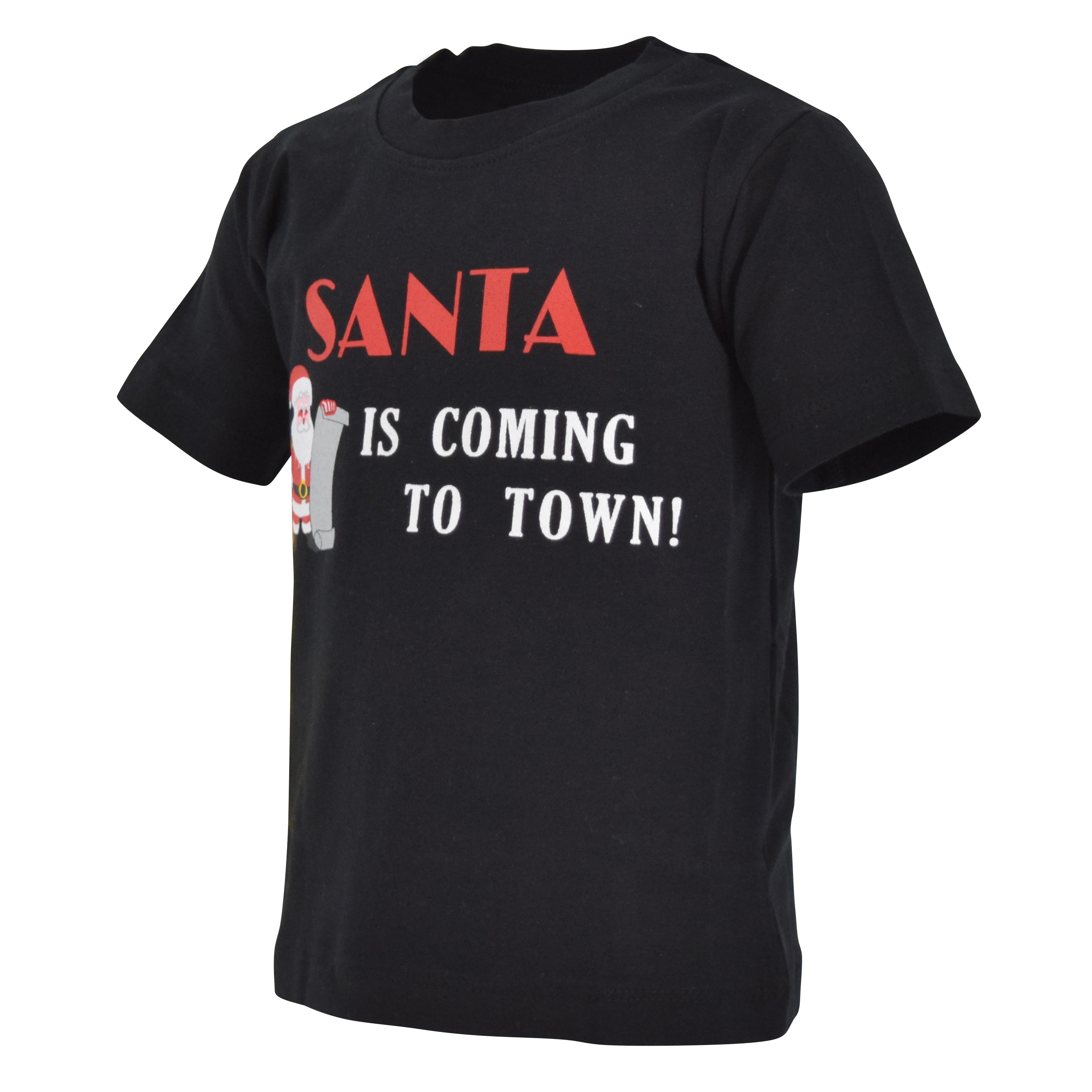 Boys Santa is Coming to Town Christmas Shirt Boutique Toddler Kids Clothes