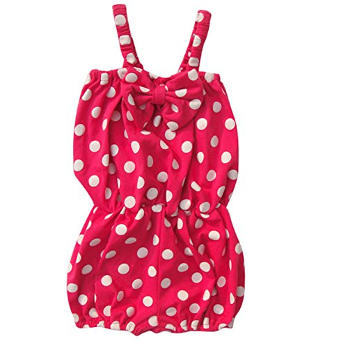 Baby-Girls Polka Dot Romper 2t 3t 4t 5 6 7 8 Toddler Kids Clothes
