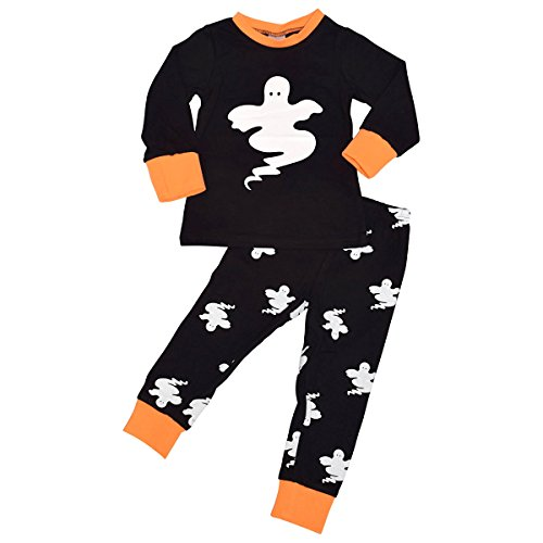 kids boutique ghost halloween pajama set outfit boys
