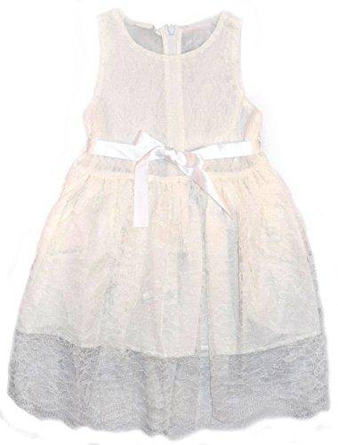 Fleur Fille Mariage en dentelle de mariée robe rose blanc taupe noir 2 3 4 5 6 7 ans