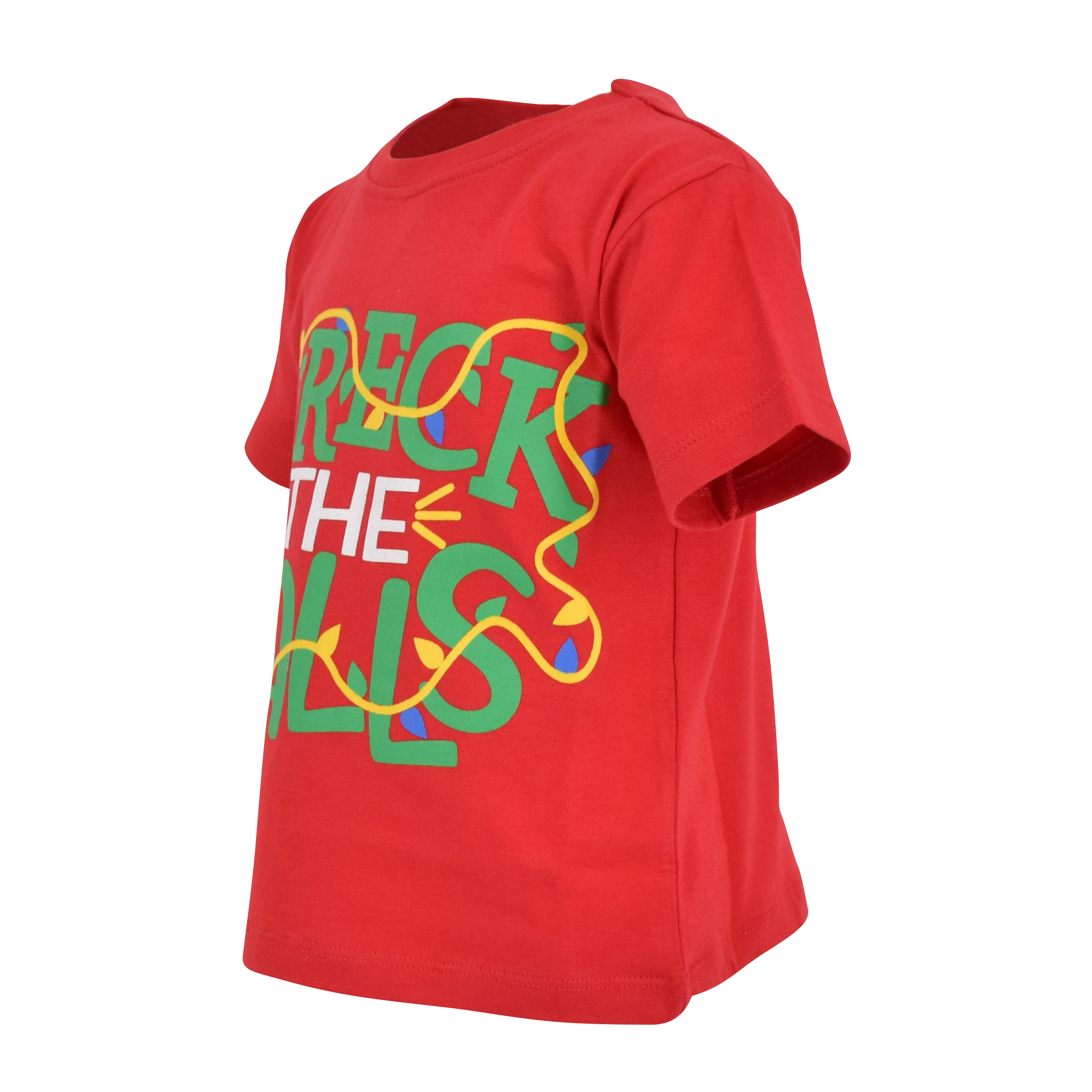 Boys Wreck The Halls Christmas T Shirt 2t 3t 4t 5 6 7 8 Toddler Kids Clothes