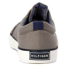 Tommy-Hilfiger-Boy-039-s-Cormac-Lace-up-Gray-Canvas-Youth-Casual thumbnail 3