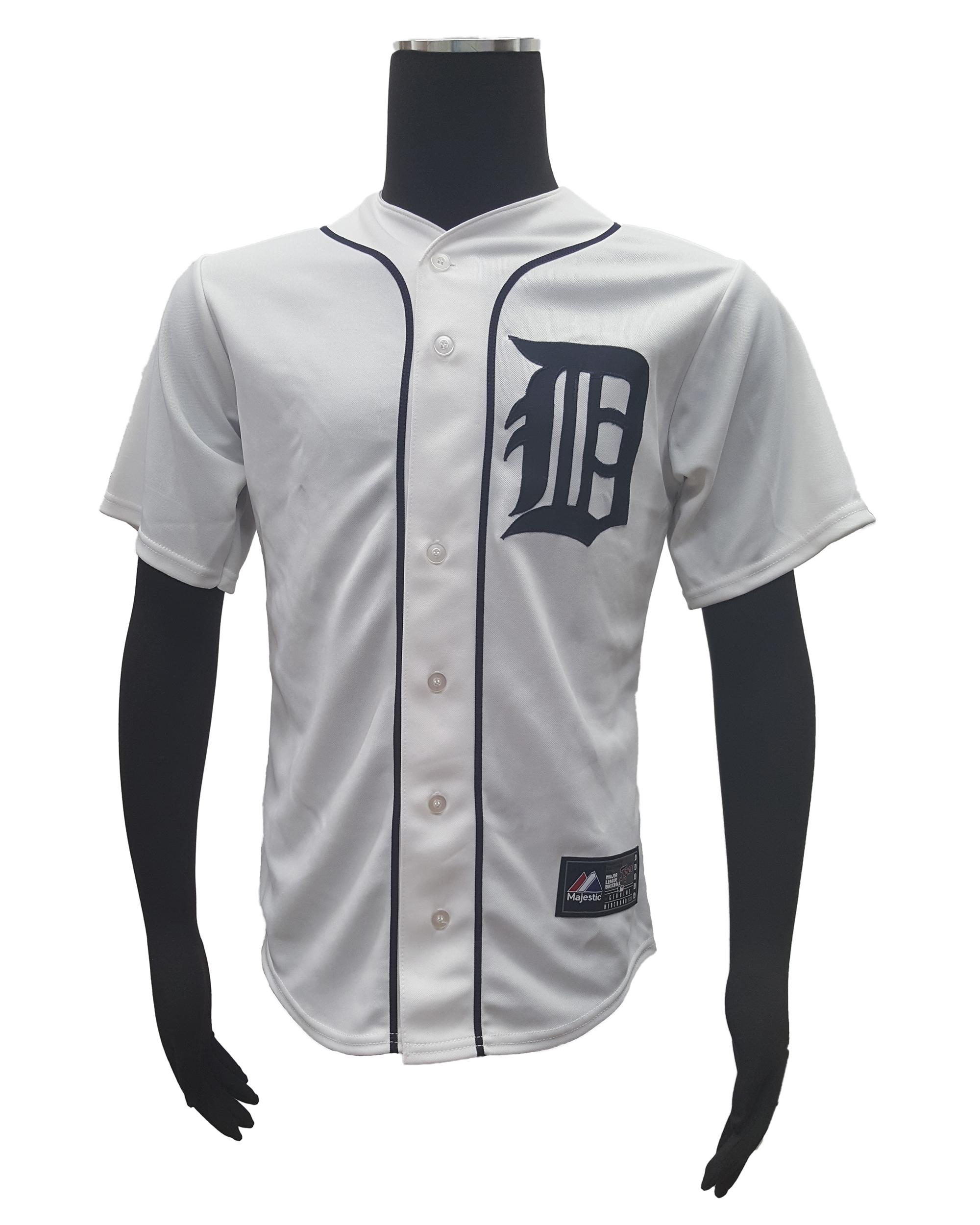 Majestic-Detroit-Tigers-14-David-Price-Men-039-s-Home-MLB-Cool-Base-Jersey miniature 9