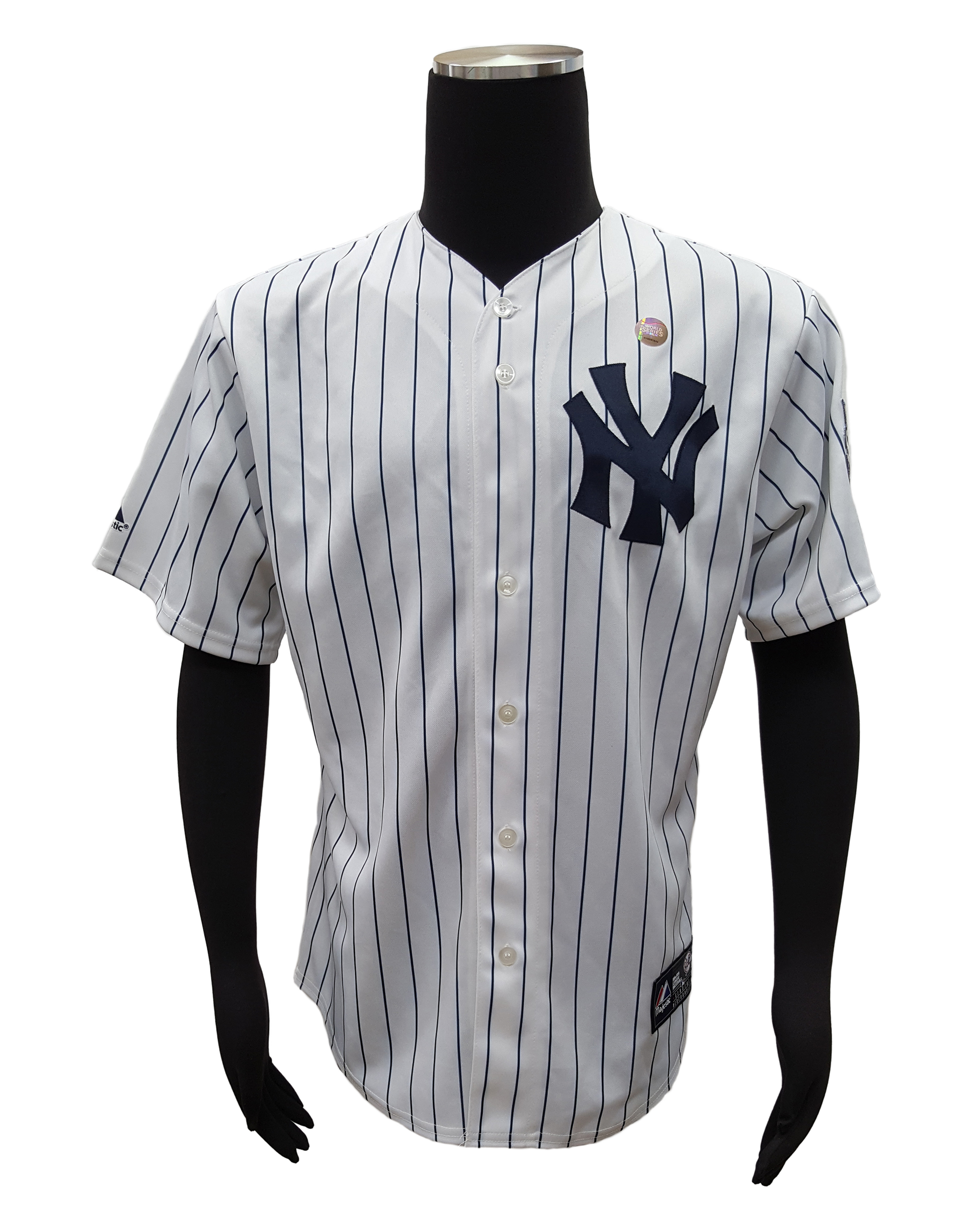 pretty nice b7aba dca9f Details about Majestic NY Yankees Mark Teixeira Home Jersey w/2009 World  Series Patch