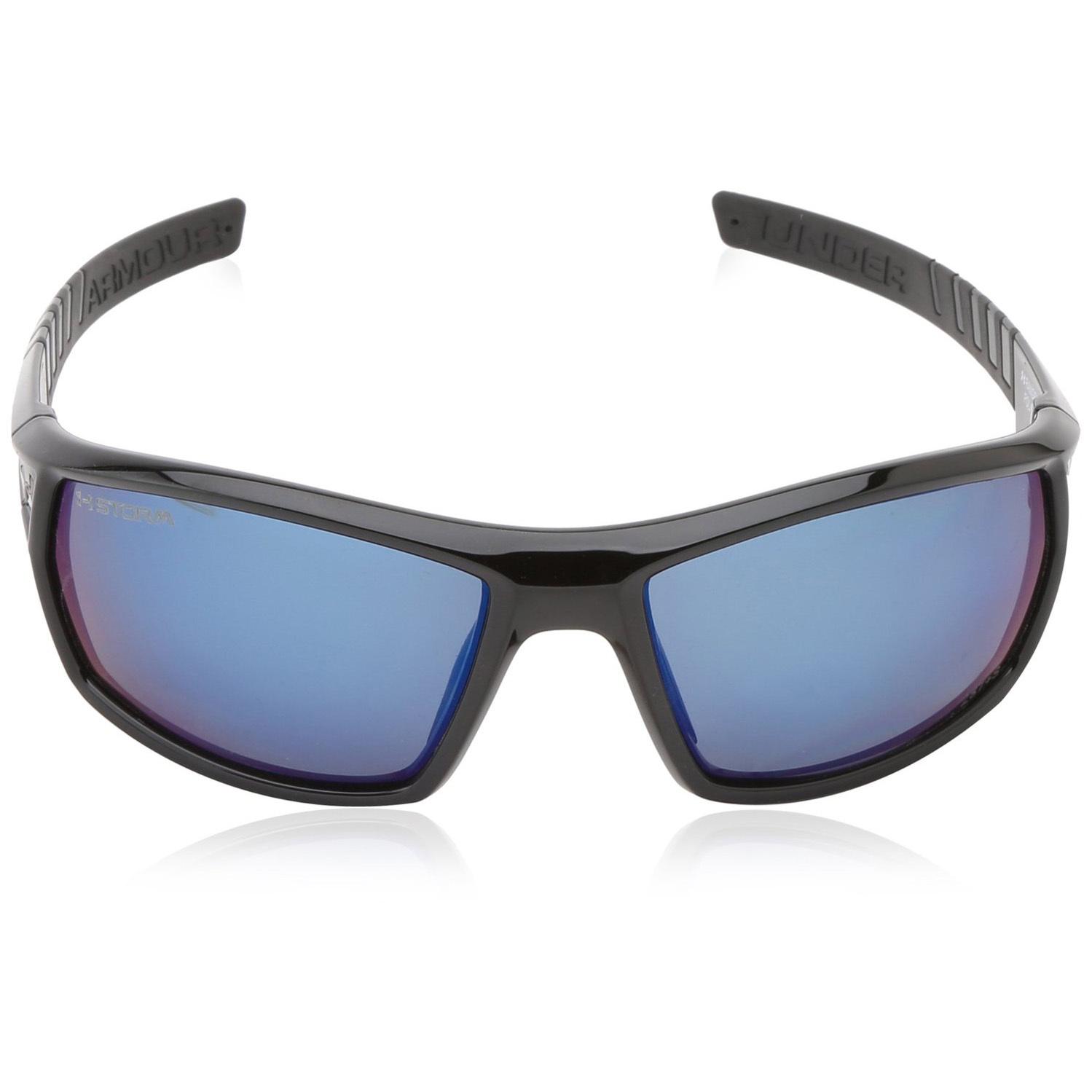 Under Armour UA Ranger Sunglasses Black Frame Blue Mirror ...