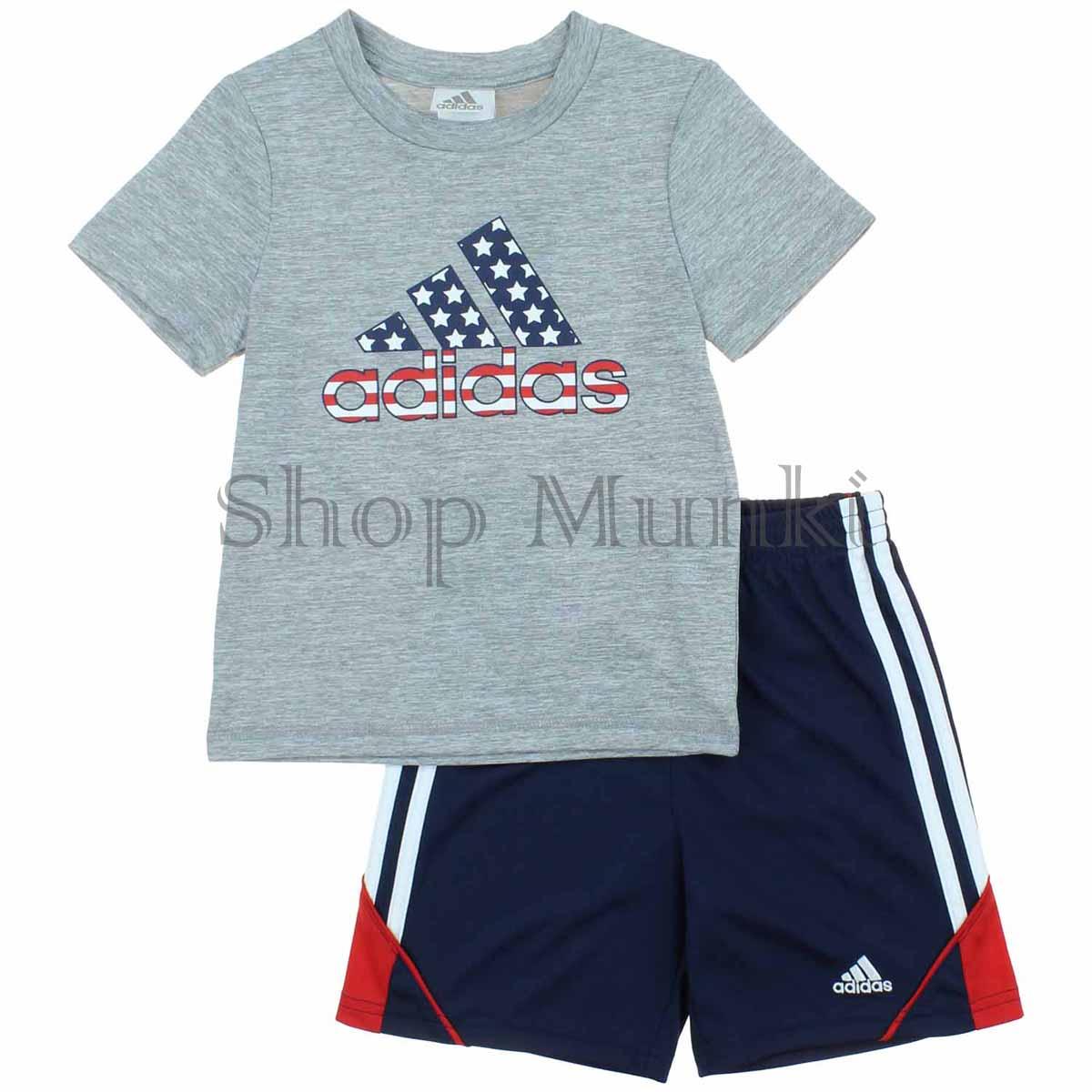 adidas t shirts and shorts