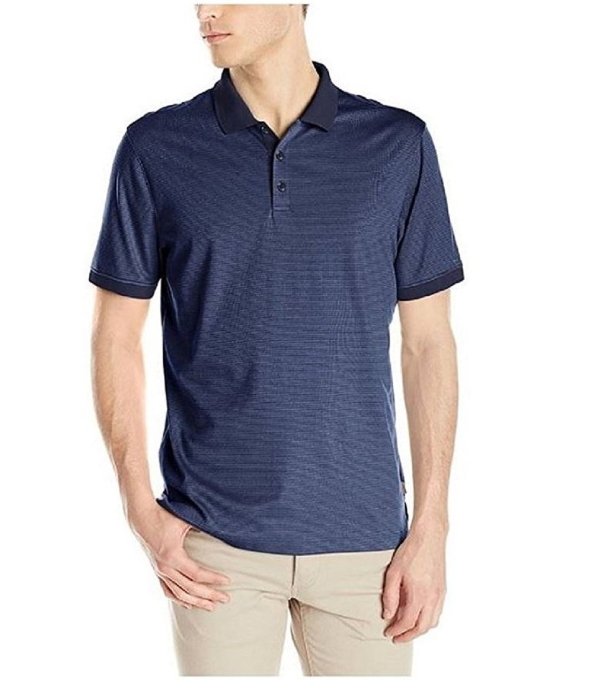 Calvin klein lifestyle mens lightweight liquid cotton polo for Mens cotton polo shirts