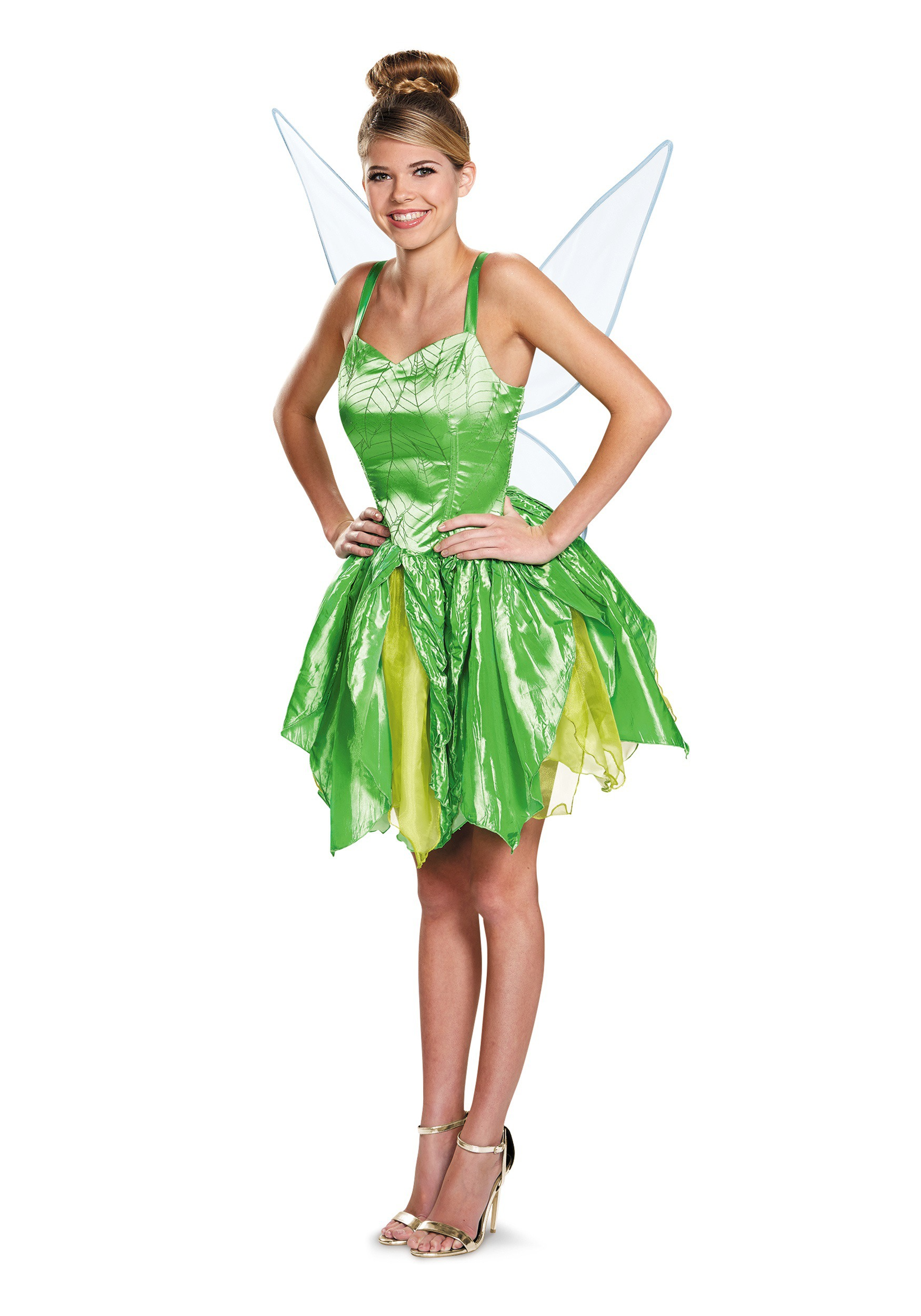 Disguise-Disney-Fairies-Adult-Tinker-Bell-Prestige-Costume  sc 1 st  eBay & Disguise Disney Fairies Adult Tinker Bell Prestige Costume | eBay