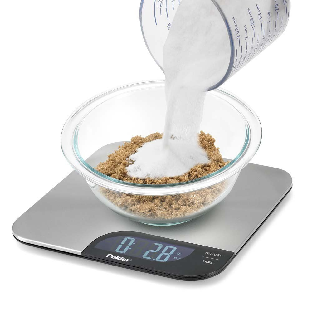 Polder Stainless Steel Kitchen Food Digital Electronic Scale