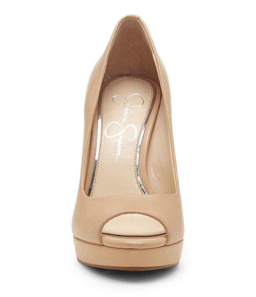 Jessica Simpson Womens Dalyn Peep Toe Pump Heel