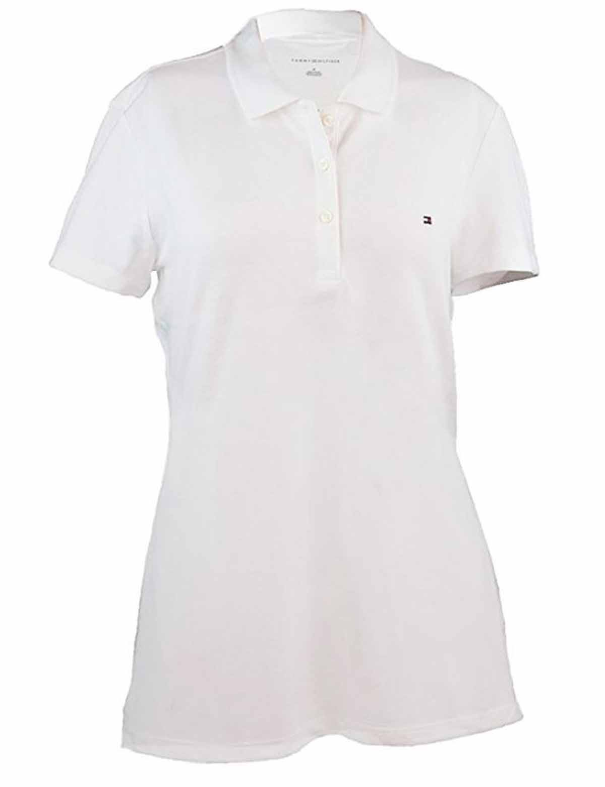 Tommy Hilfiger Womens Classic Fit 3 Button Short Sleeve