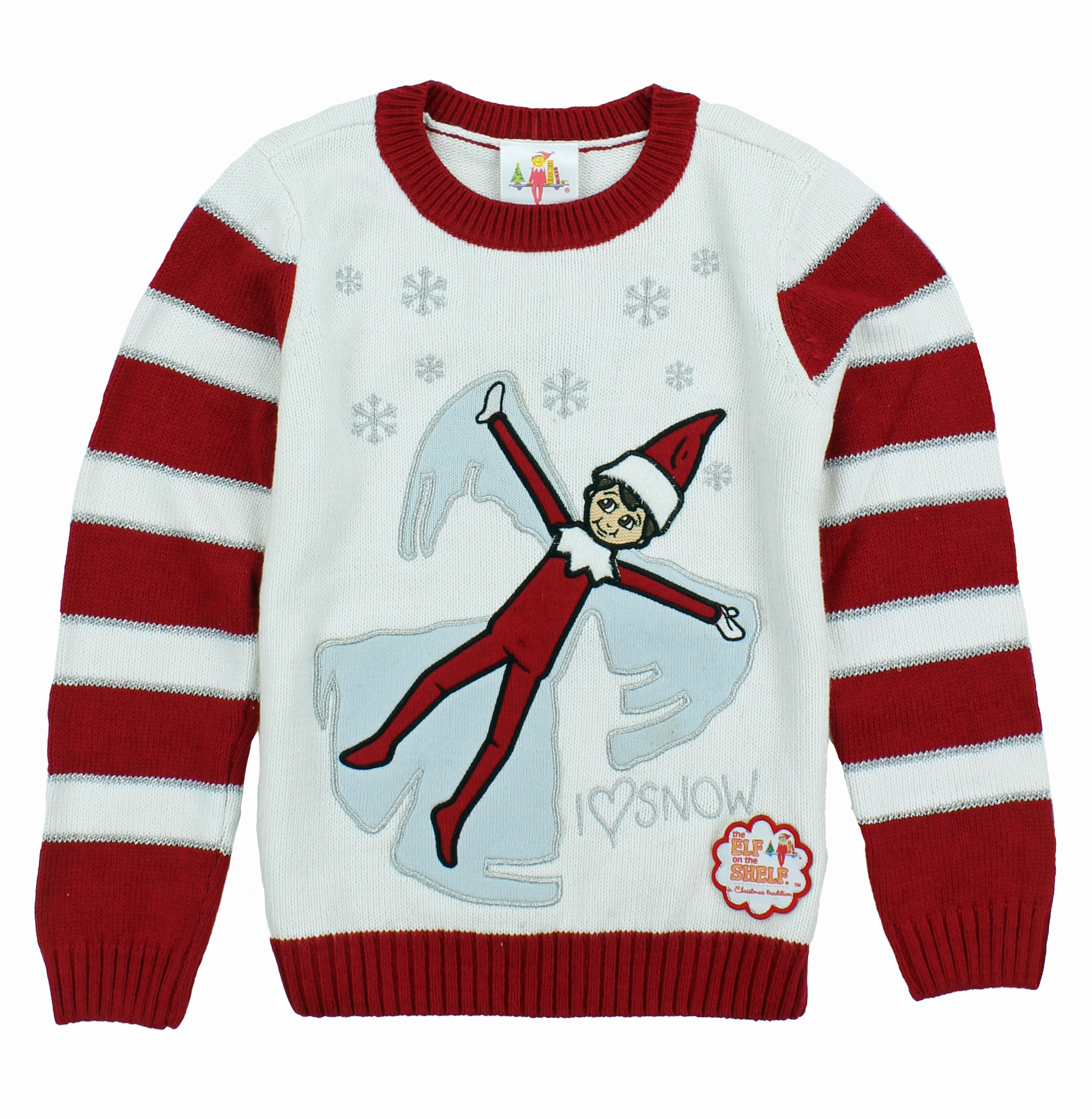 Christmas Sweater Kid\'s The Elf On The Shelf Pullover Sweatshirt | eBay