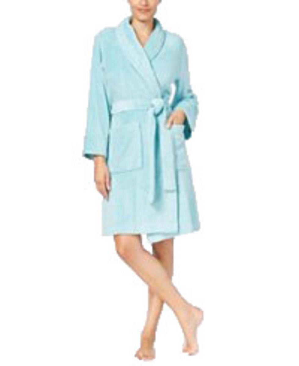 Charter Club Womens Short Heather Wrap Bath Robe