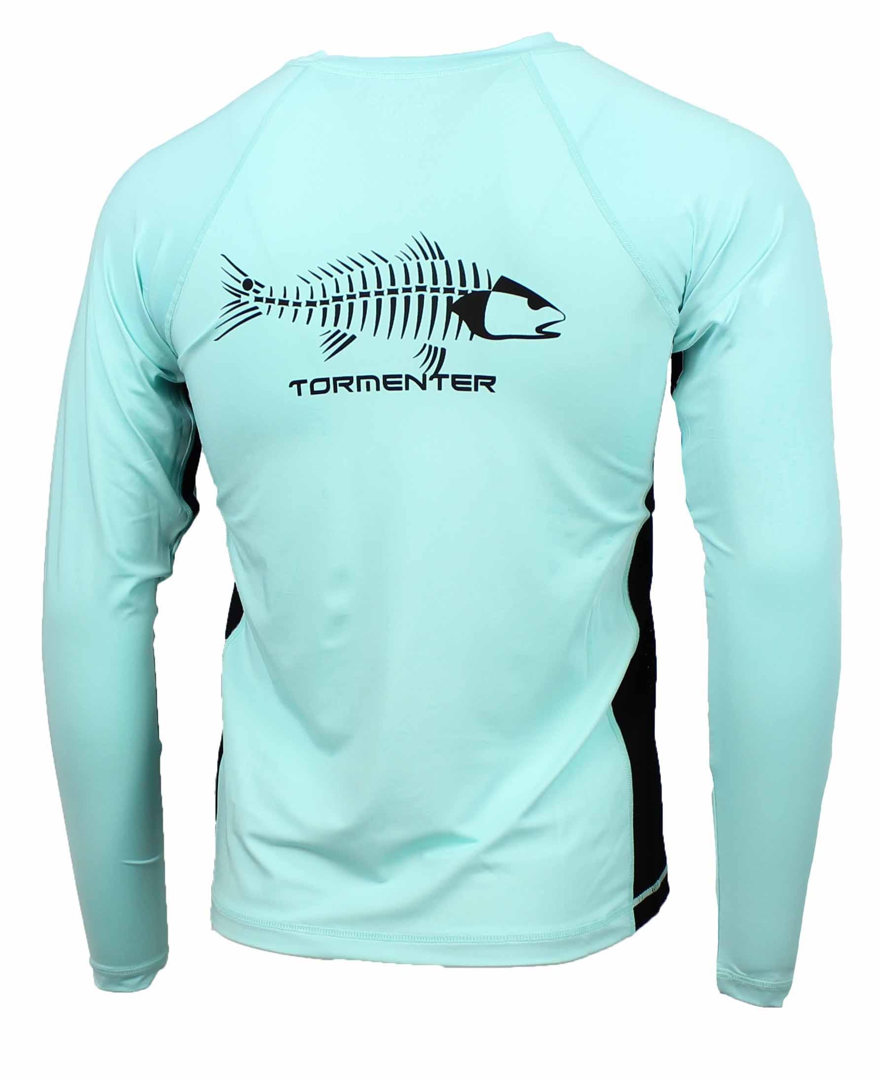 Tormenter men 39 s spf 50 long sleeve fishing shirt ebay for Long sleeve fishing shirts