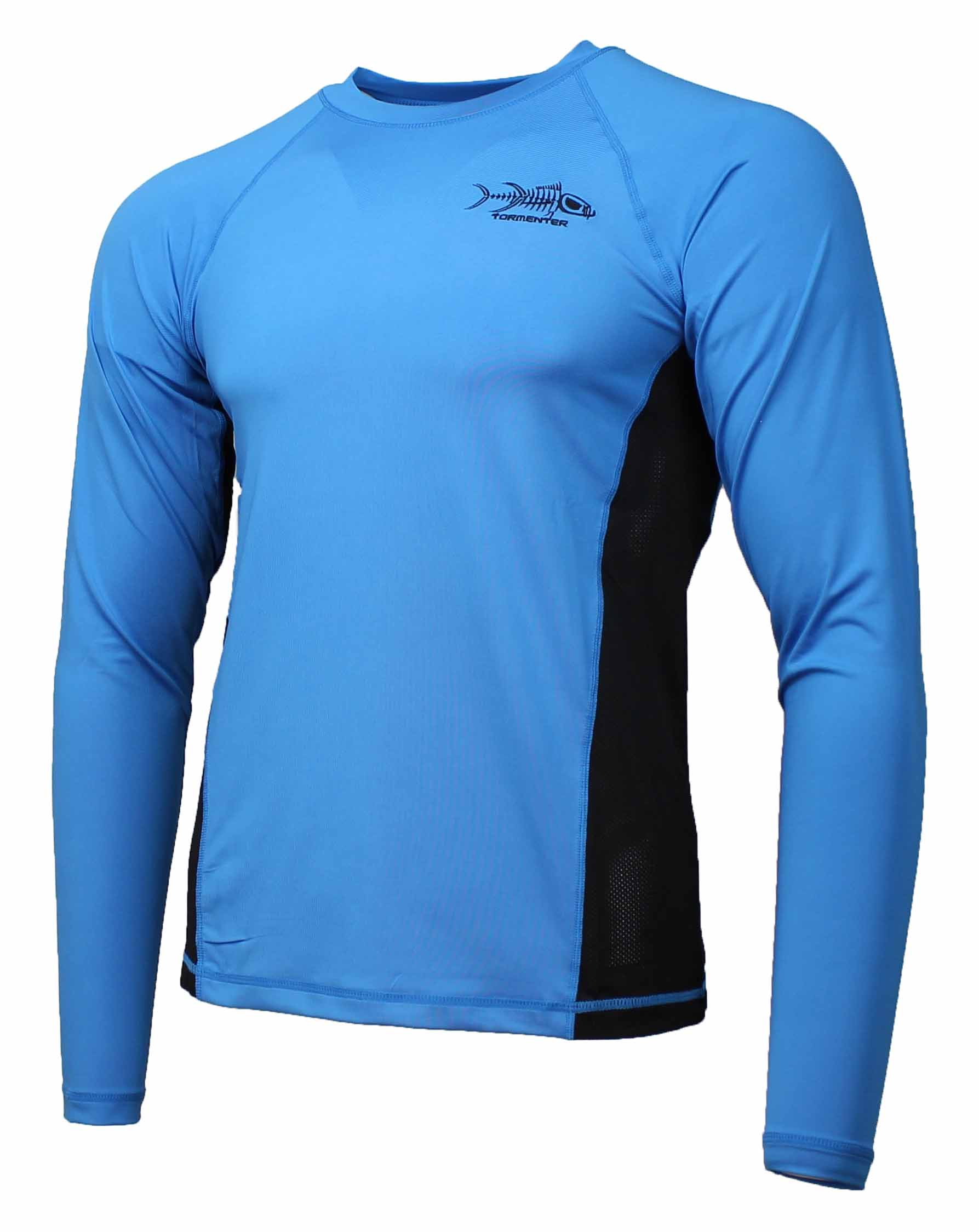 Tormenter men 39 s spf 50 long sleeve fishing shirt ebay for Spf shirts for fishing