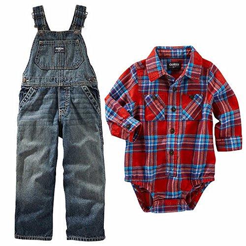 OshKosh B/'gosh Little Boys 2 Piece Overall Outfit