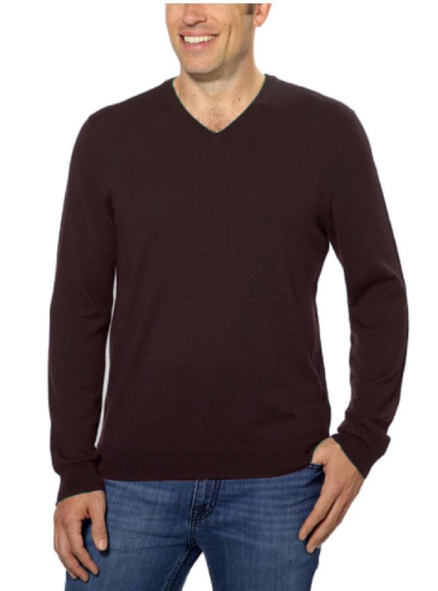 calvin klein mens extra fine merino wool long sleeve pullover v neck sweater ebay. Black Bedroom Furniture Sets. Home Design Ideas