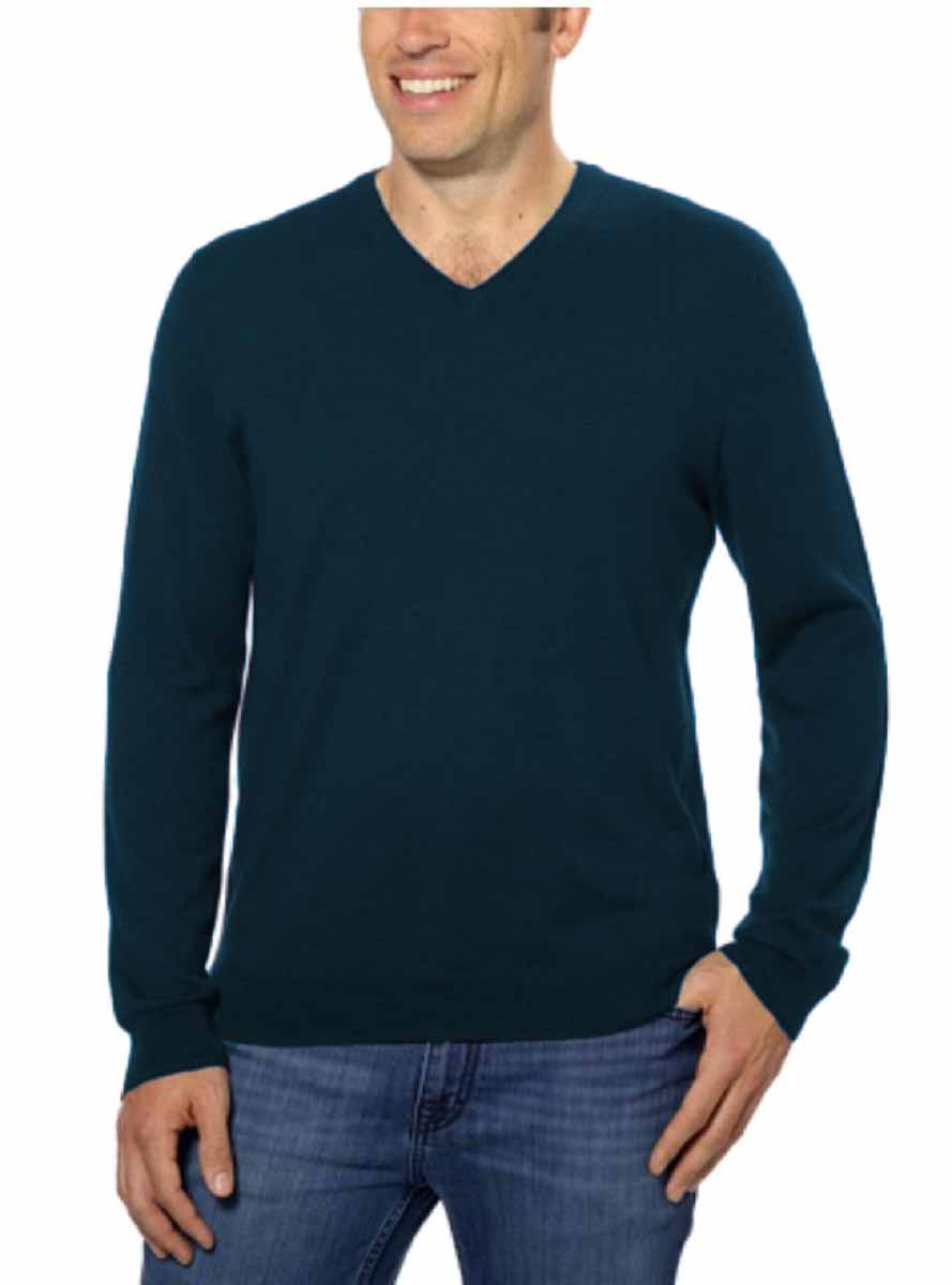 calvin klein mens extra fine merino wool long sleeve pullover v neck sweater ebay. Black Bedroom Furniture Sets. Home Design Ideas