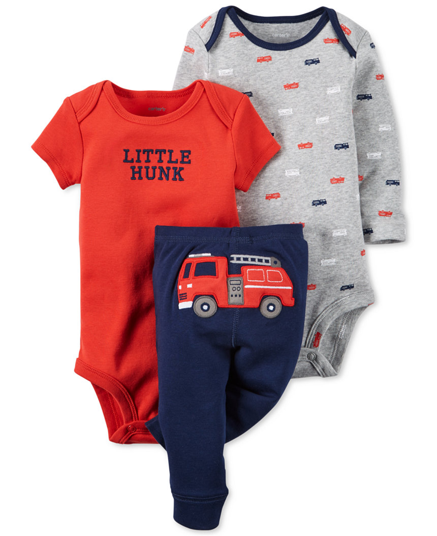 CARTER/'S Baby Boy/'s 3-Piece Matching Outfit Set 2 Bodysuit Tops and 1 Pant