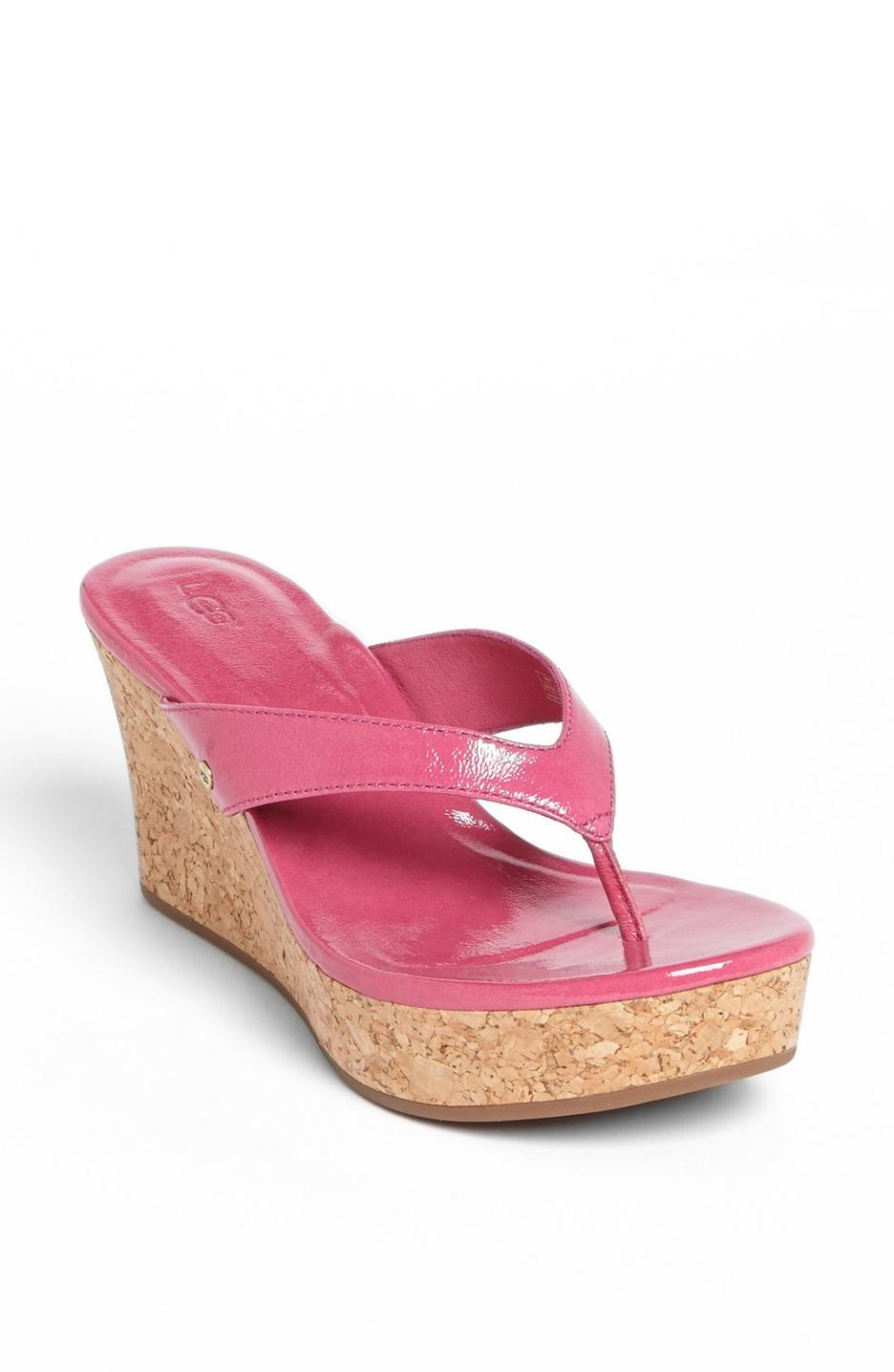 UGG-Womens-Natassia-Trendy-Cushioned-Patent-Platform-Wedge-