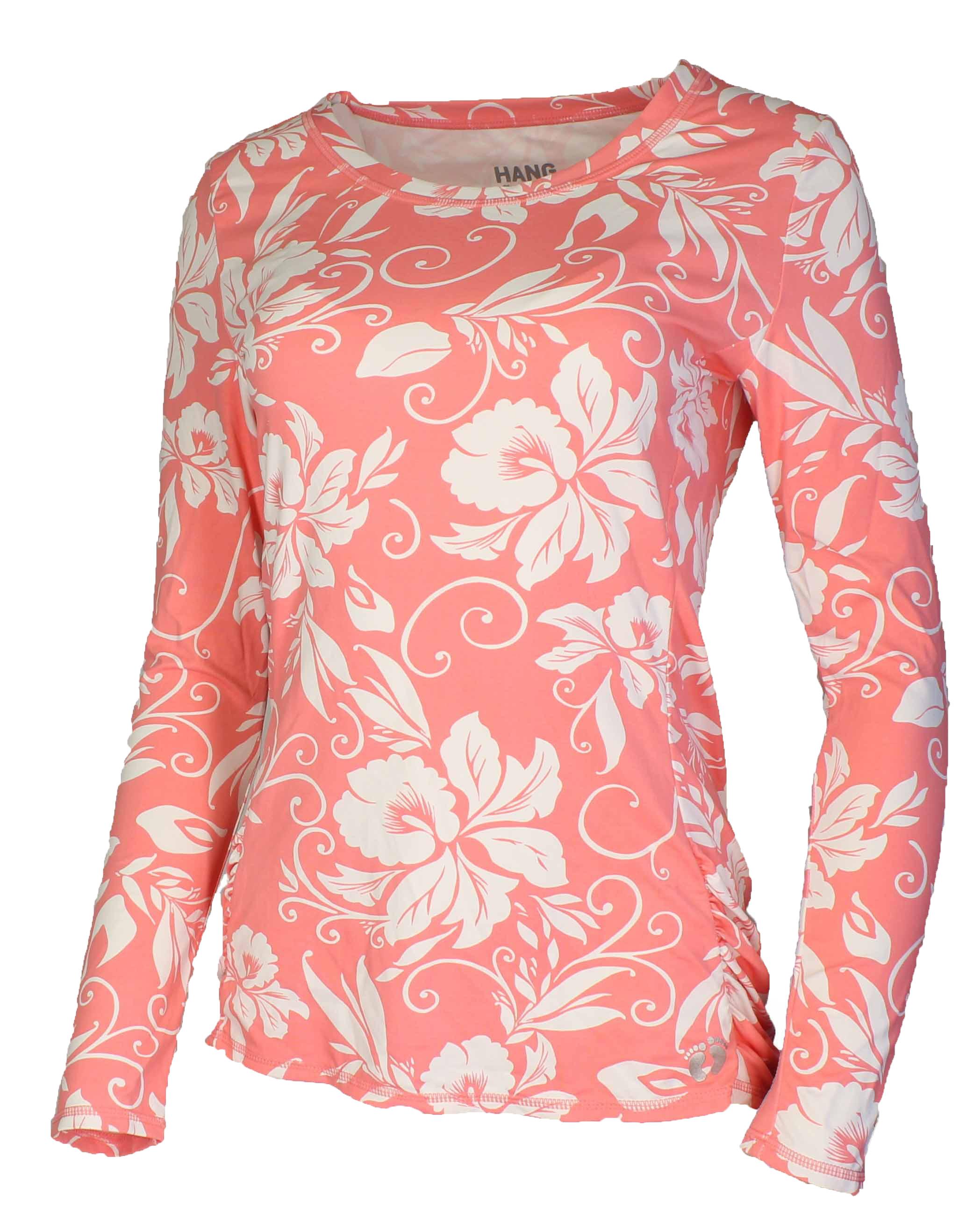 Hang ten womens drift long sleeve rash guard quick drying for Womens rash guard shirts