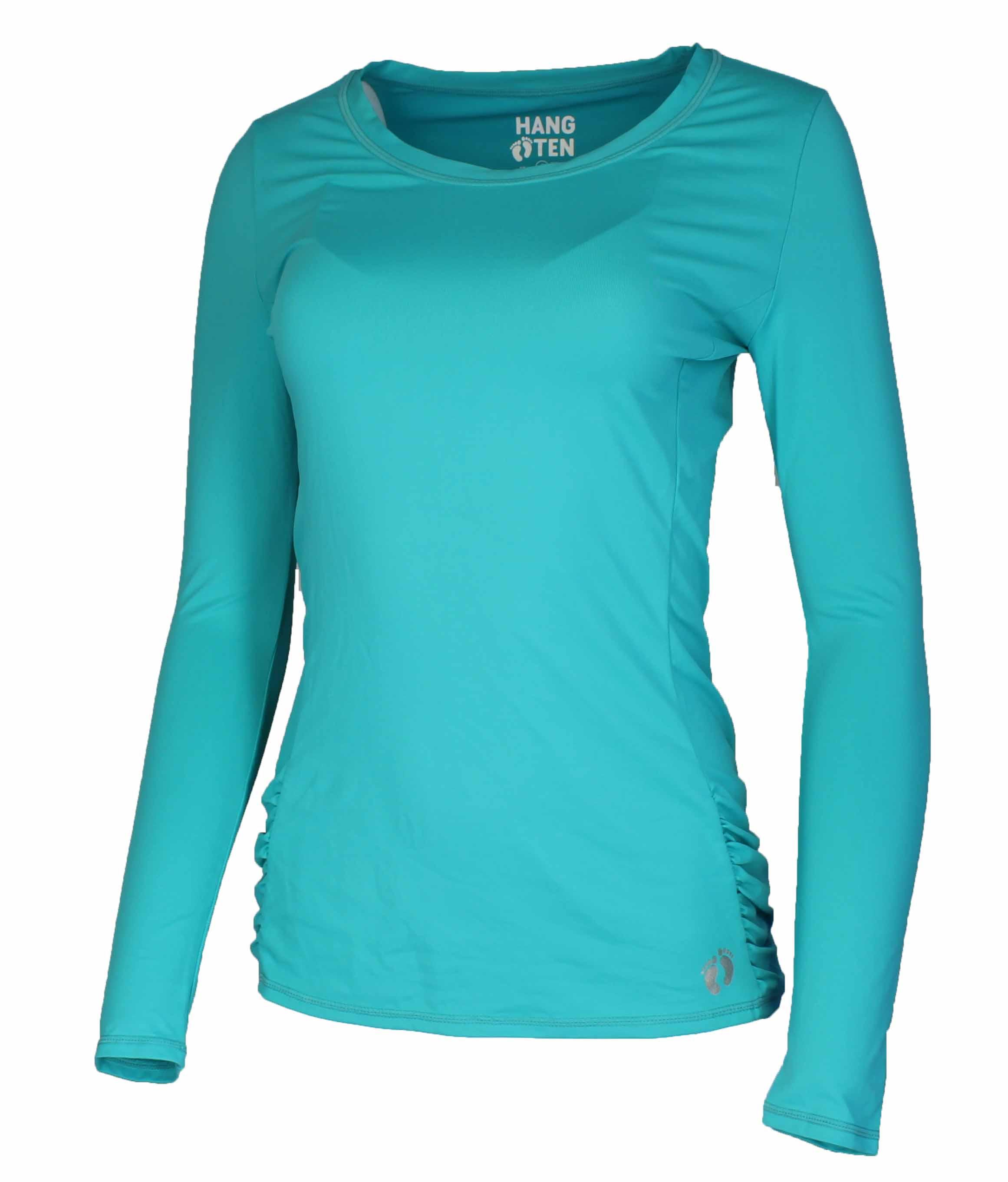 Hang ten womens drift long sleeve rash guard quick drying for What is a rash shirt