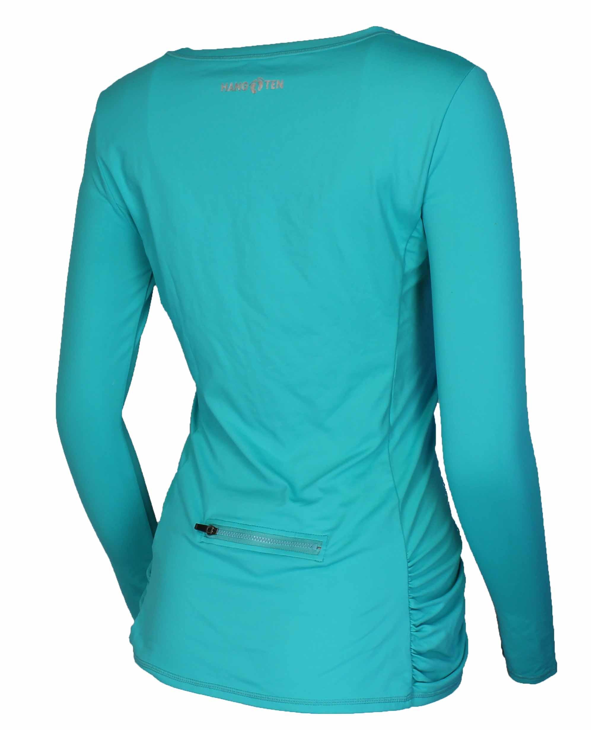 Hang ten womens drift long sleeve rash guard quick drying for Uv shirts long sleeve