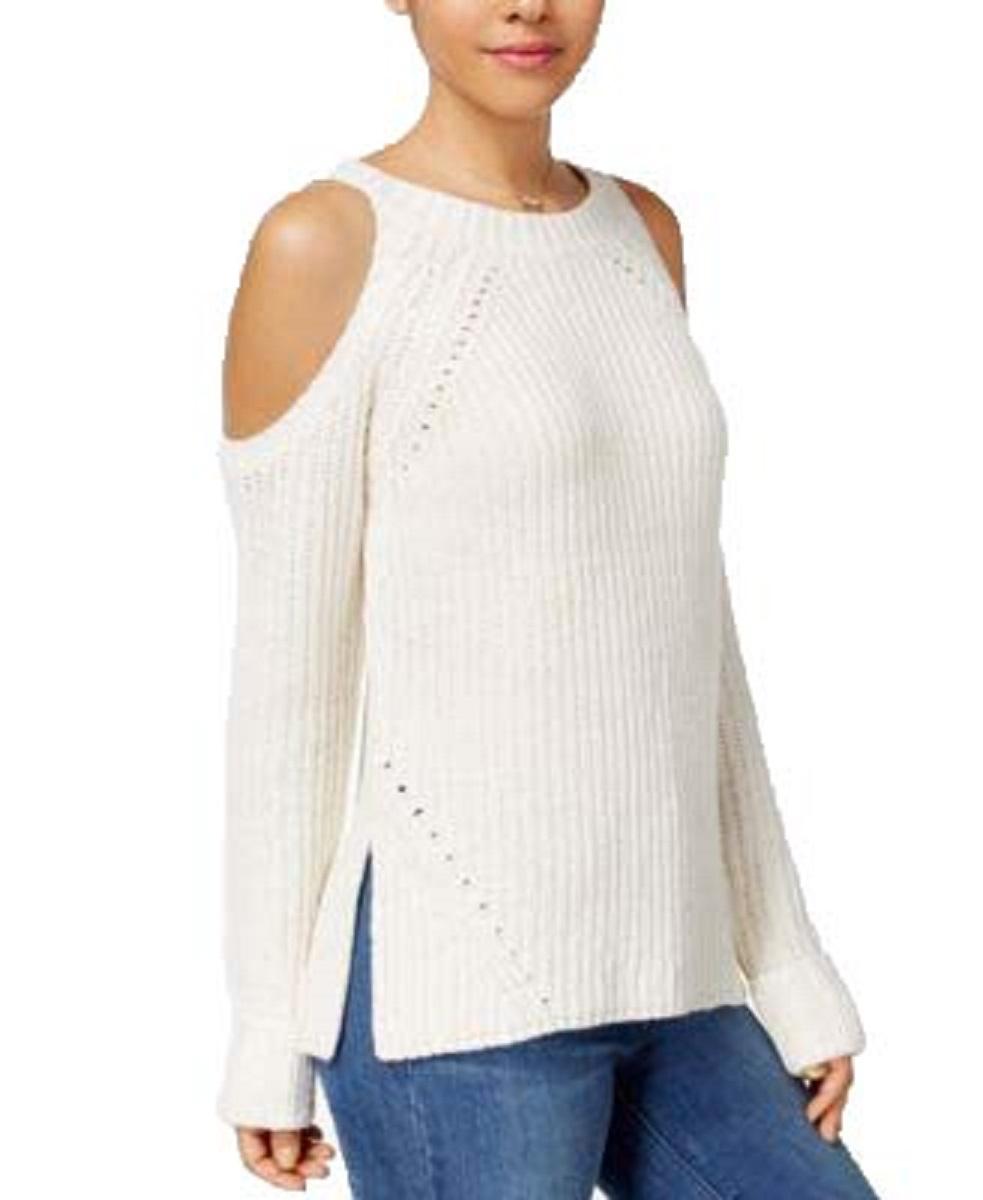 Hippie Rose Juniors/' Cold-Shoulder Sweater