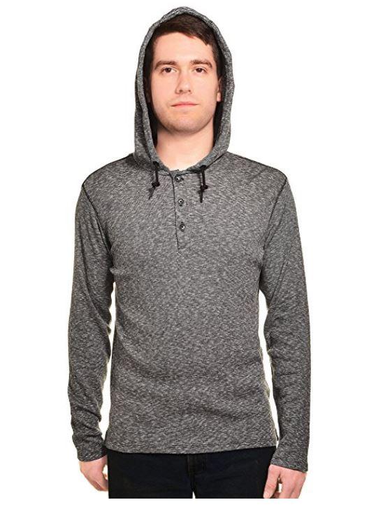 DKNY Mens Hooded Henley Sweater Shirt | eBay