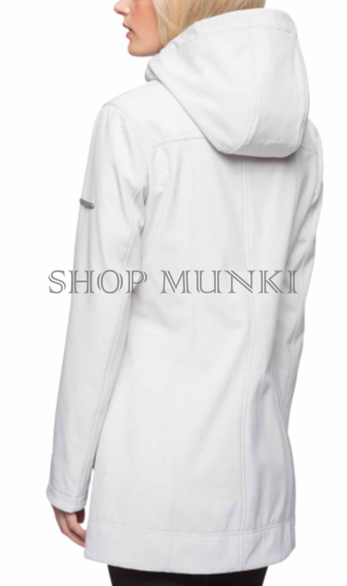 Andrew Marc Women/'s Long Softshell Hooded Jacket