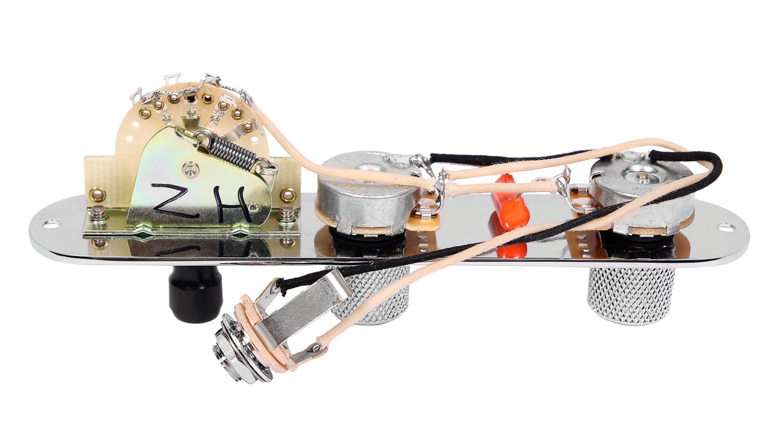 Fender Tele Telecaster Loaded Pre-wired Pickguard DiMarzio Twang King Pickups BK