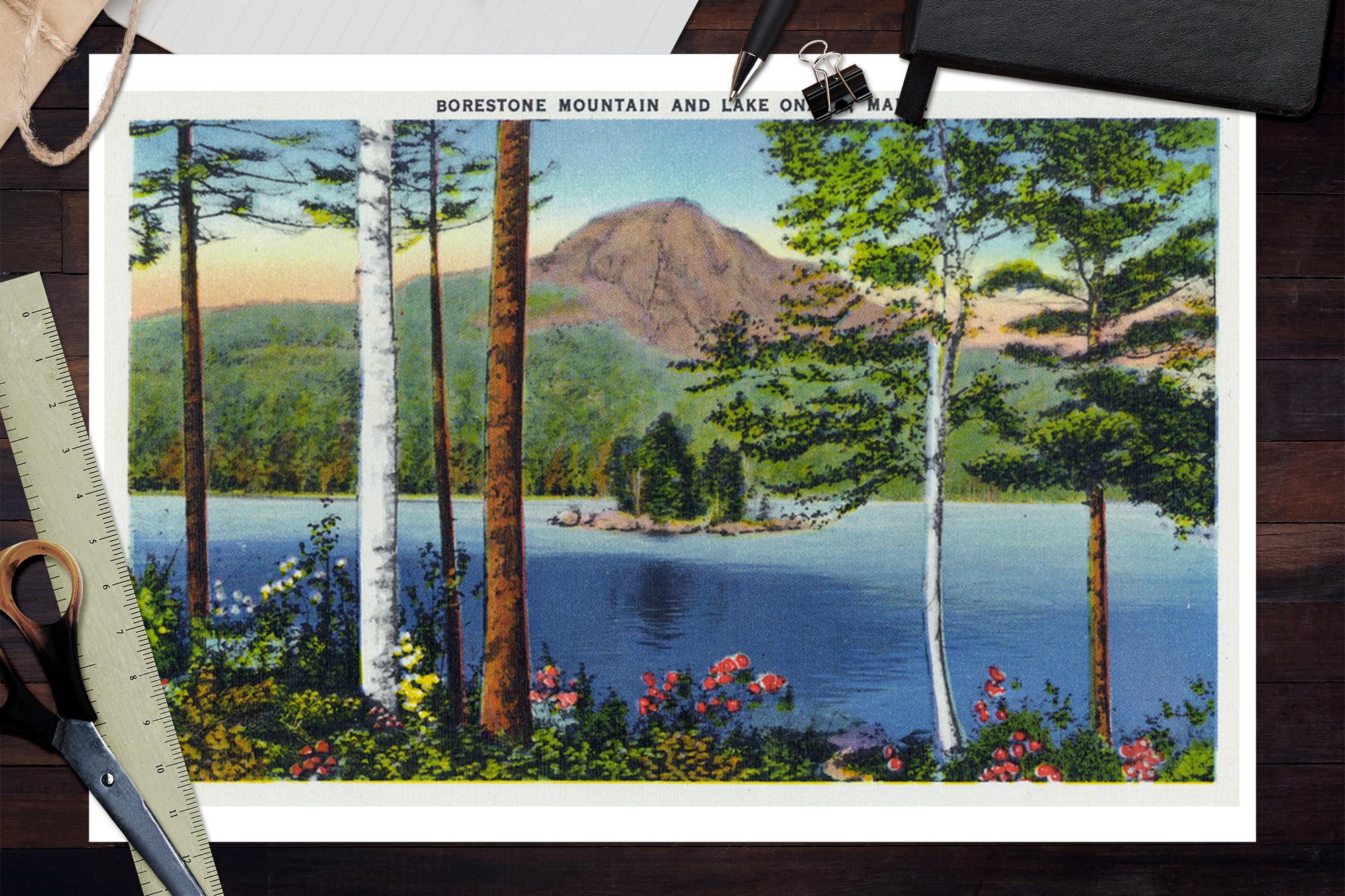 Lake Onawa Maine Borestone Mountain /& Lake Art Prints, Signs, Canvas, More