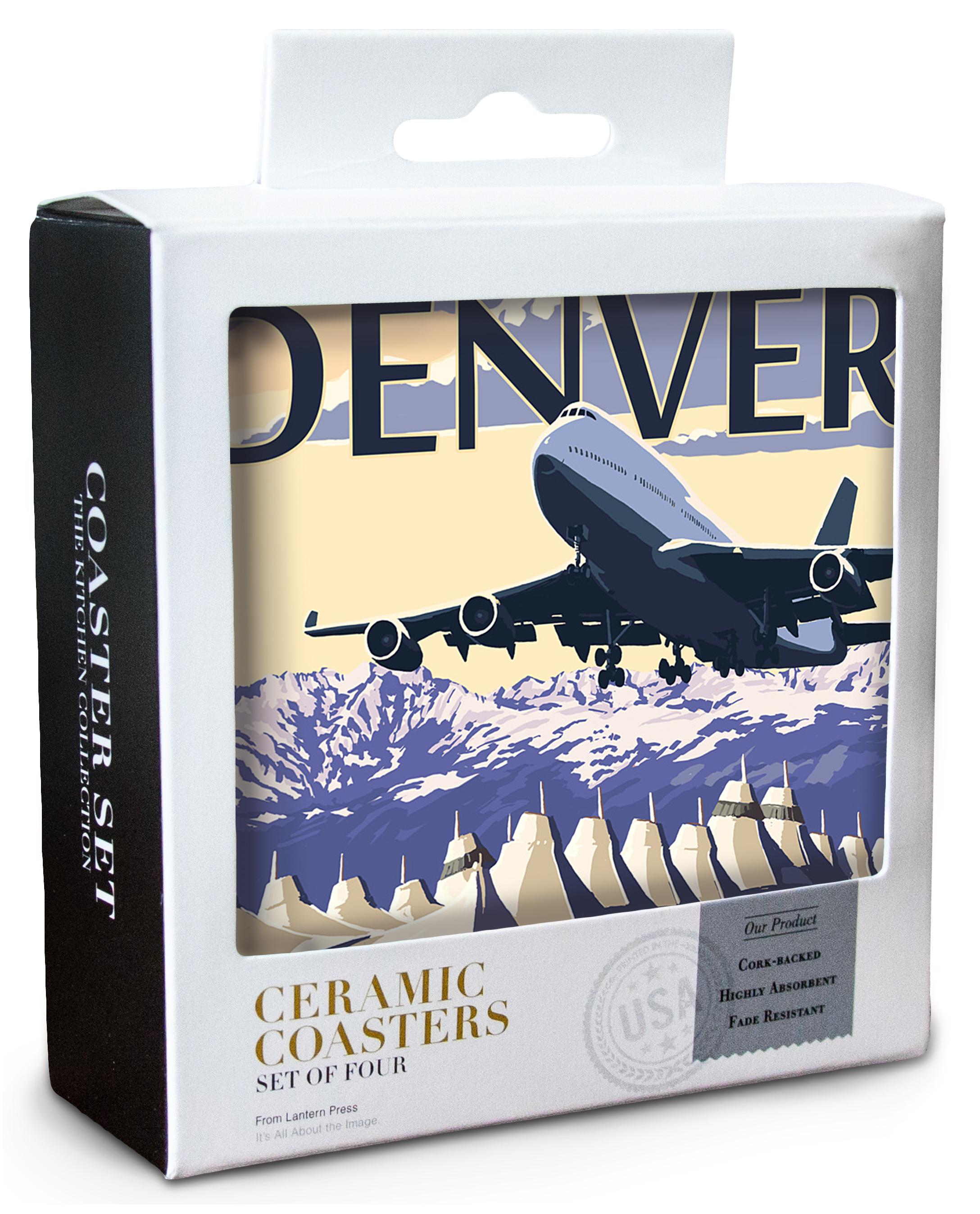 LP Artwork Posters, Wood /& Metal Signs Airport View Denver CO
