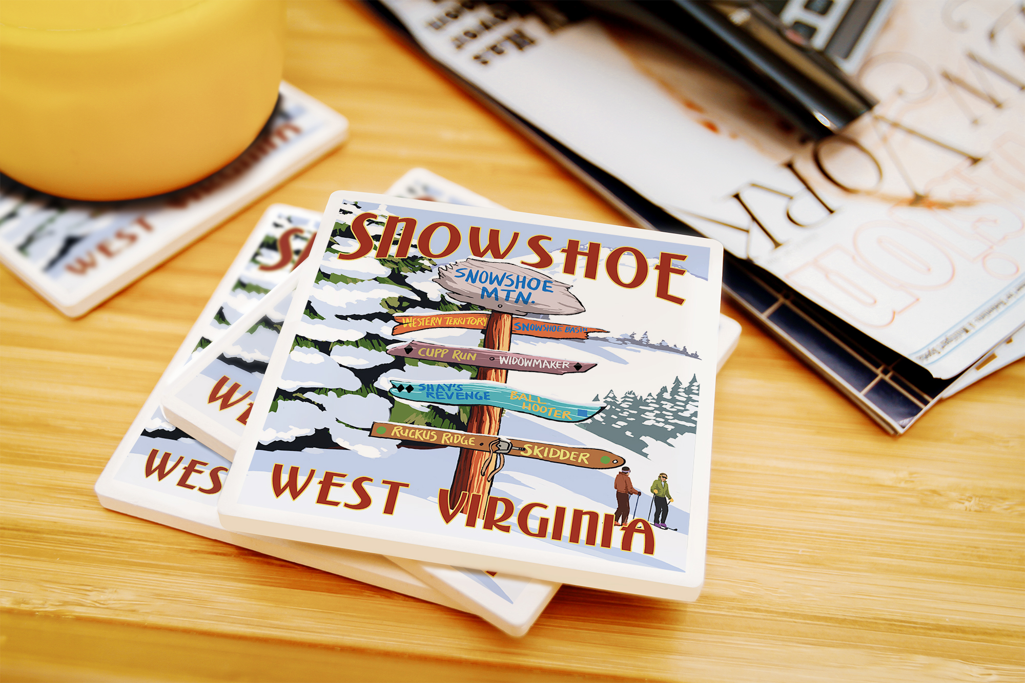 Snowshoe WV Dest Sign Posters, Wood /& Metal Signs LP Artwork