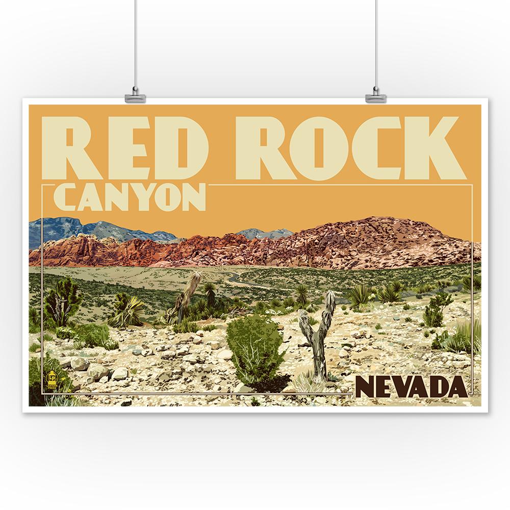 LP Artwork Las Vegas Posters, Wood /& Metal Signs Red Rock Canyon NV