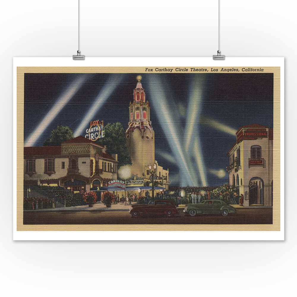 Los Angeles CA Fox Carthay Circle Theatre View Posters, Wood /& Metal Signs