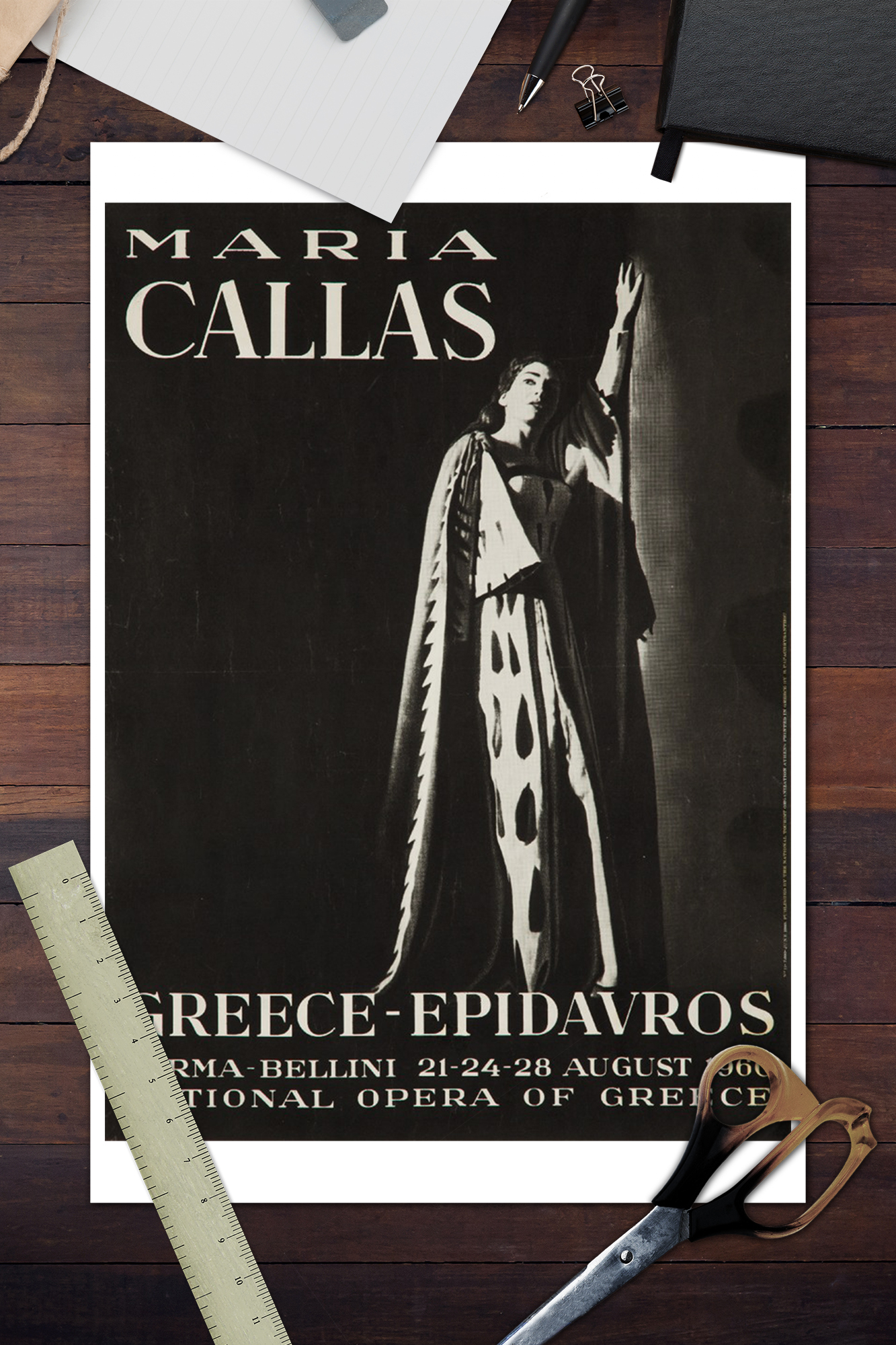 Posters, Wood /& Metal Signs - Vintage Ad Maria Callas - Greece c. 1960